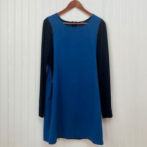 Kenneth Cole Blue And Black Knit Dress